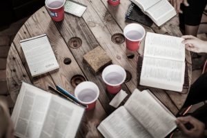 bibles and cup