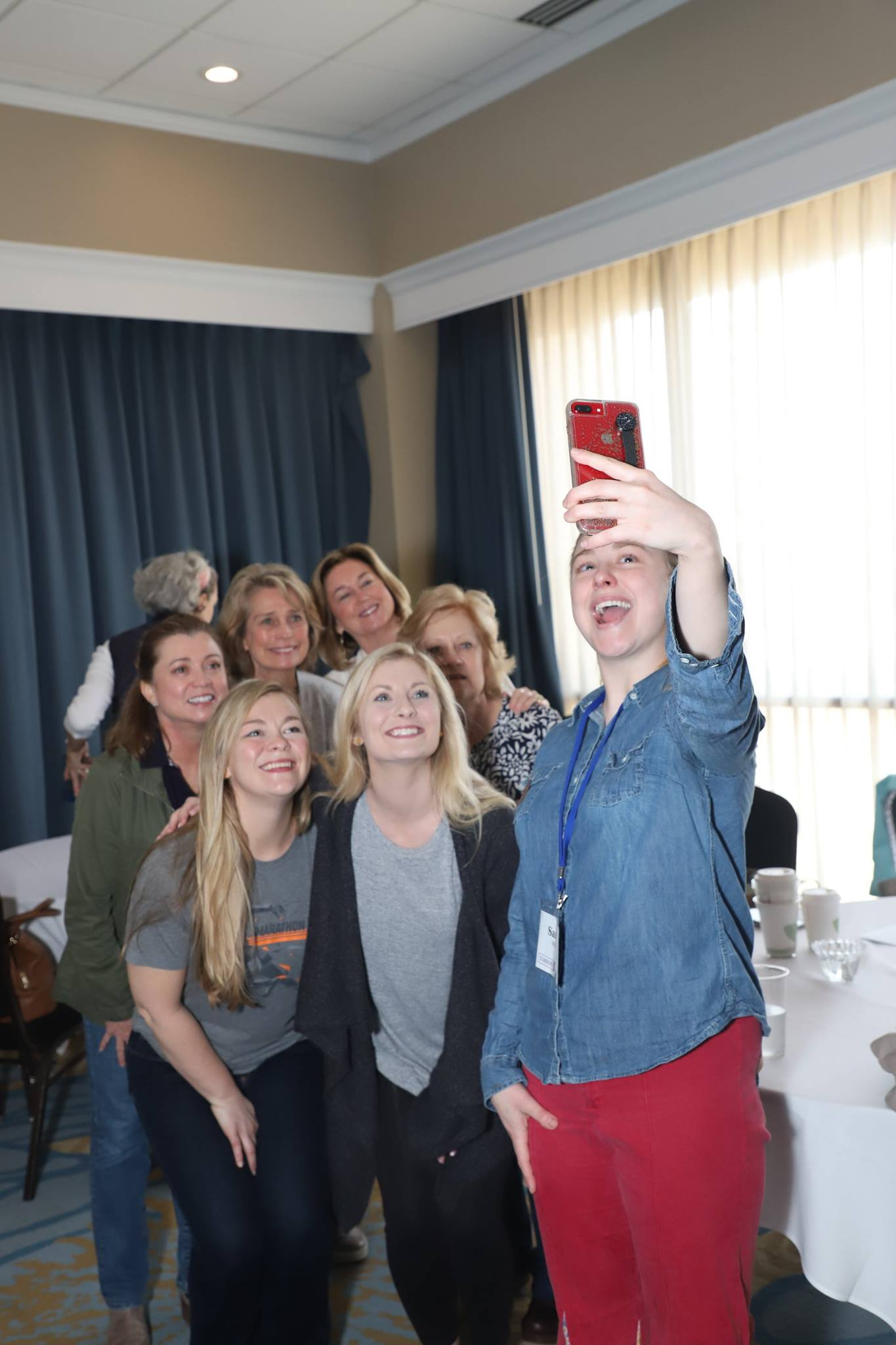 Group Selfie at Women's Retreat